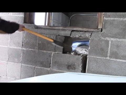 Breaking Through The Garage Wall