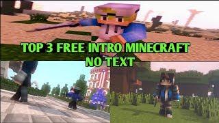 Free download intro Minecraft no text