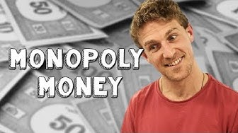 Using fake money to buy things - Monopoly Money