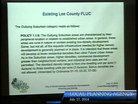 City of Bonita Springs, Local Planning Agency Meeting, July 17th 2014