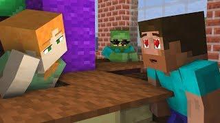 Monster School: Alex and Steve Love Story - Minecraft Animation