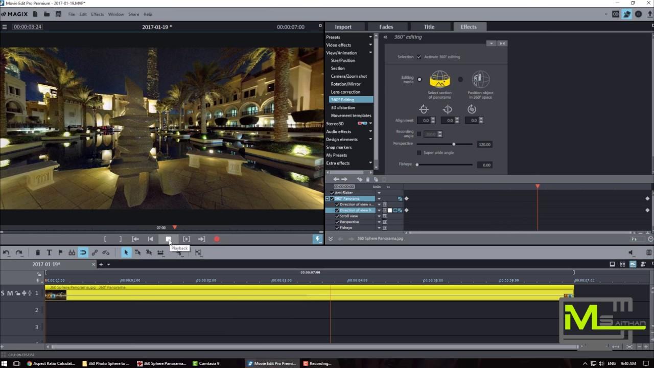 Convert 360 Photo Sphere & Panorama Picture to Rotating Video | MAGIX Movie  Edit Pro Premium