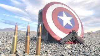 Real Captain America Shield that can stop a 50bmg