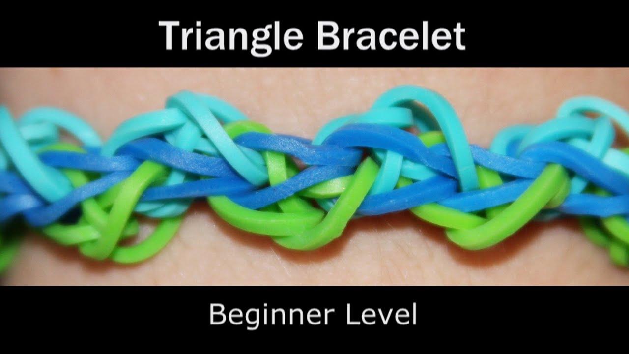 rainbow loom174 triangle bracelet youtube