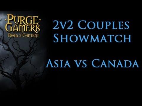 Dota 2 2v2 Couples Showmatch Asia Vs Canada