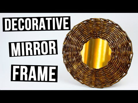 DIY Decorative Mirror Frame from Paper Tube