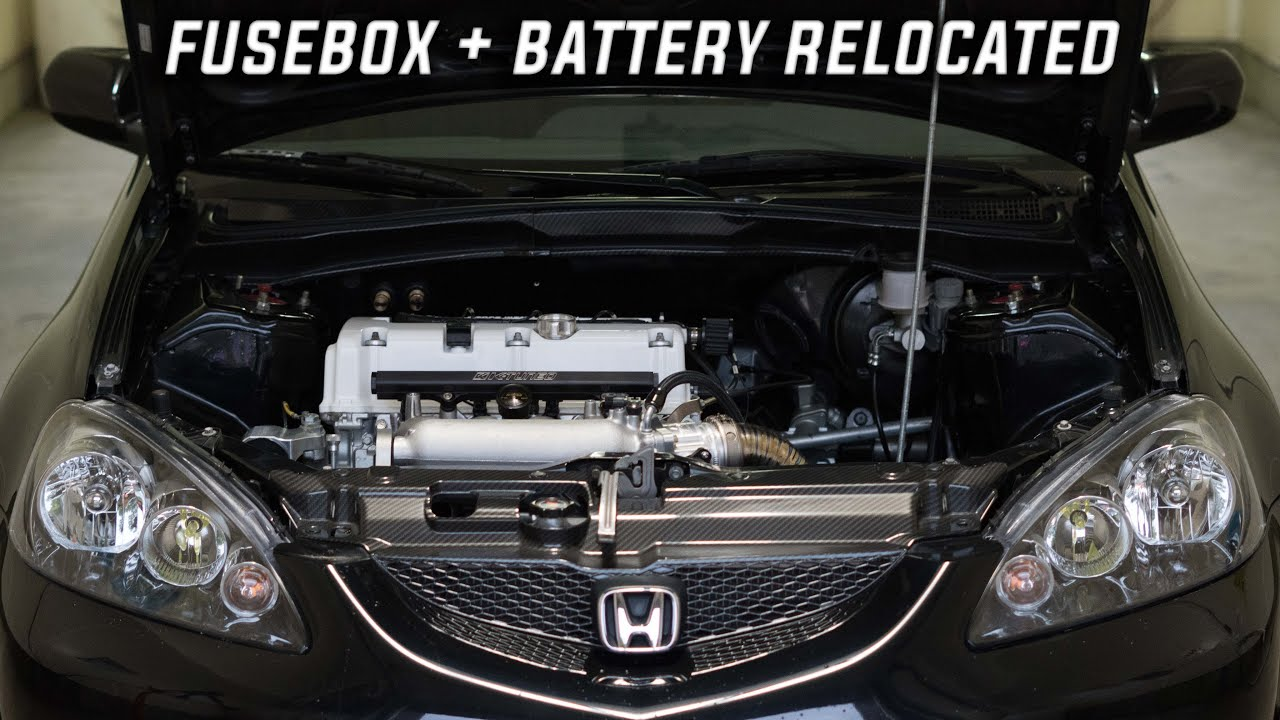 Honda Battery + Fusebox Relocation / Tucked Charge Harness DIY ( DC5 ) -  YouTube   Acura Rsx Fuse Box Relocation      YouTube