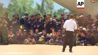 Thai Navy SEALs leave Chiang Rai following cave rescue