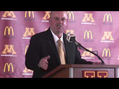 New University of Minnesota football coach Jerry Kill