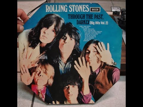 ROLLING STONES Through The Past Darkly Record Lp playing turntable