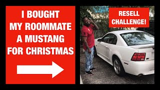 I BOUGHT MY ROOMMATE A CAR FOR CHRISTMAS! RESELL CHALLENGE!