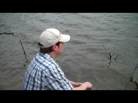 Fishing For Trout At Prairie Park In Cedar Rapids, Iowa