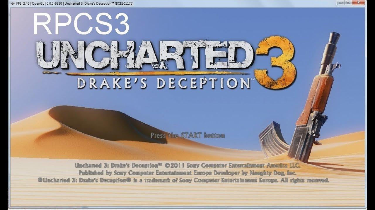 RPCS3 PS3 Emulator Uncharted 3 menu only [BCES01175]