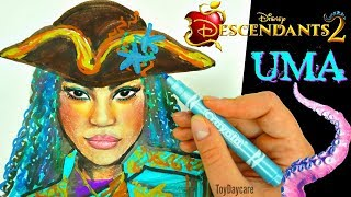 DISNEY DESCENDANST 2 UMA Drawing! Learn How To Draw China Anne McClain