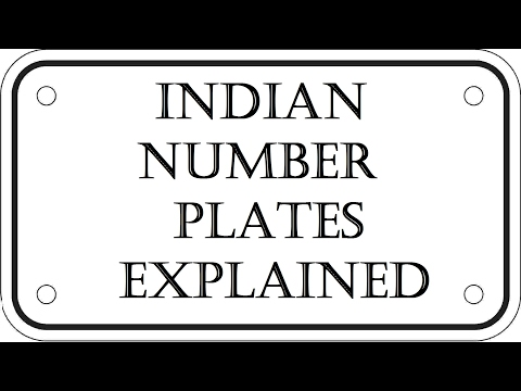 Indian RTO Number Plates - Explained