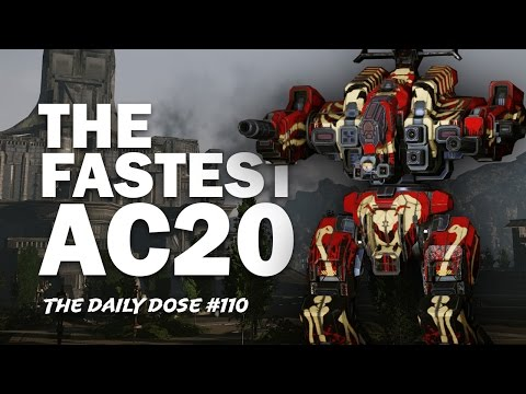 AC20 Boomstick Rifleman Build RFL-3N - Mechwarrior Online - The Daily Dose #110