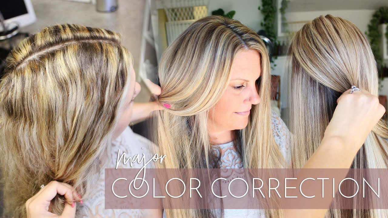 Blonde Highlights Gone Wrong - Major Color Correction ? How to ...