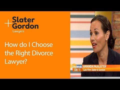 How do I Choose The Right Divorce Lawyer?
