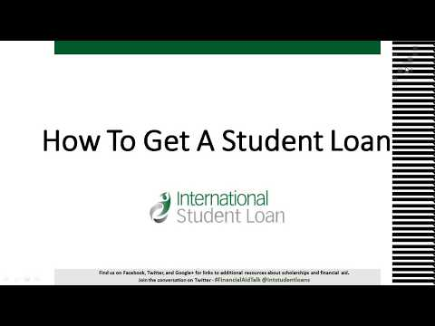 How To Get An International Student Loan