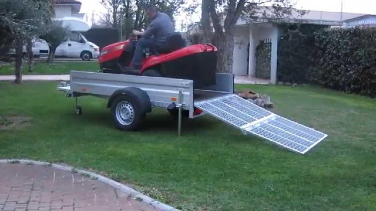 Rimorchio trasporto cose / trattorino rasaerba / con rampa ...
