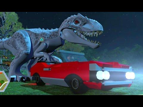 LEGO Jurassic World - Jurassic Park Hub 100% Guide #3 - Jurassic Park Gate & Gallimimus Territory