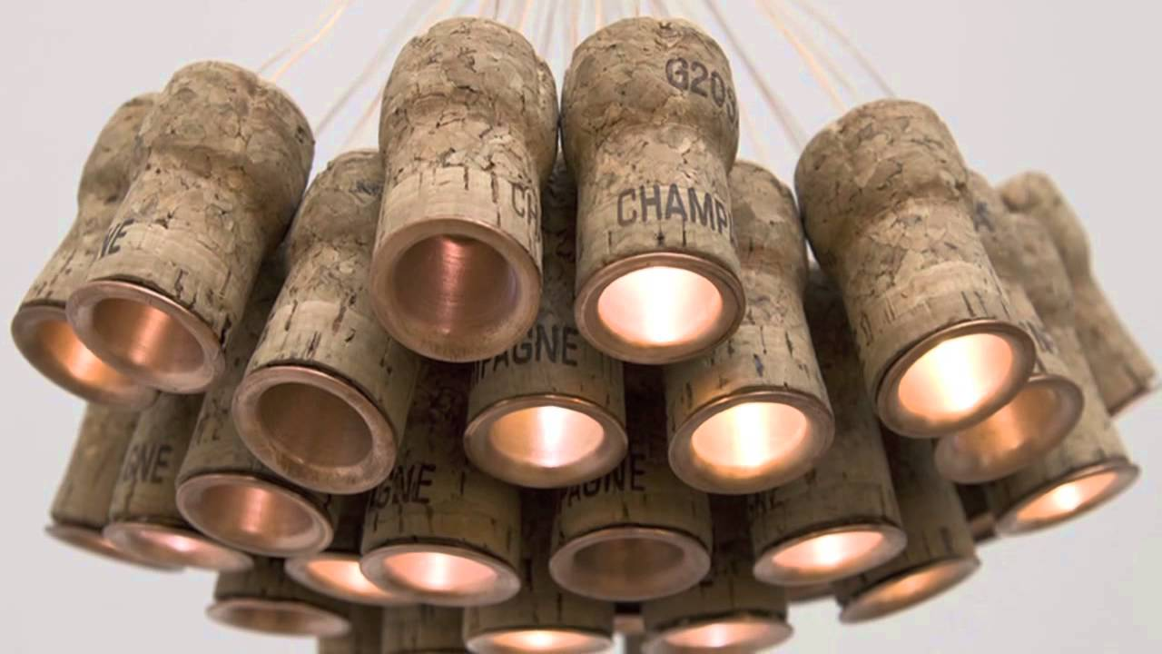 Chandelier Made From Corks