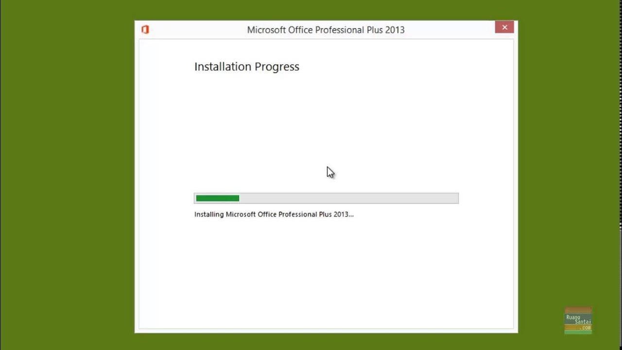 cara instal office 2013