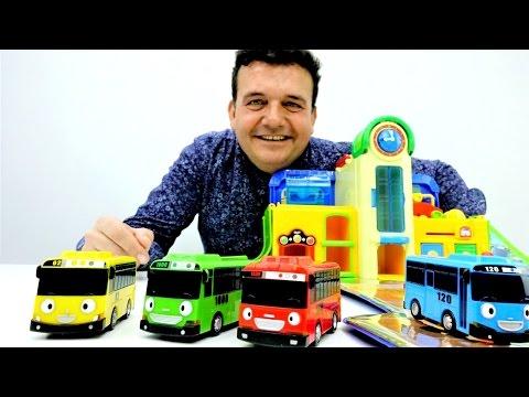 WOW💥 unboxing NUEVO Auto Parking Garaje 🚌 se puede LAVAR 💦 y tiene plataforma ELEVADORA!!Juegos Tayo