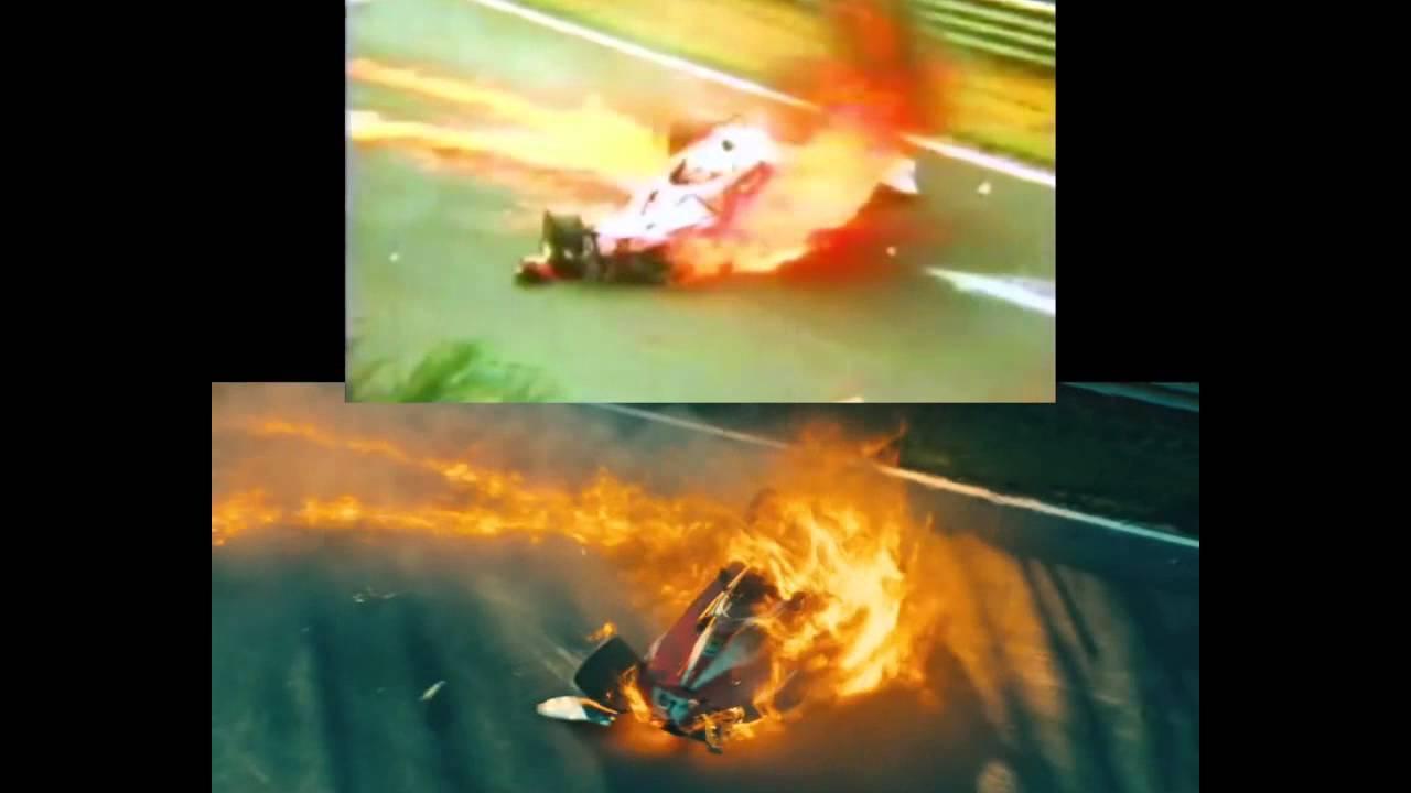 Rush Vs Real Niki Lauda S Crash Scene Comparison Youtube