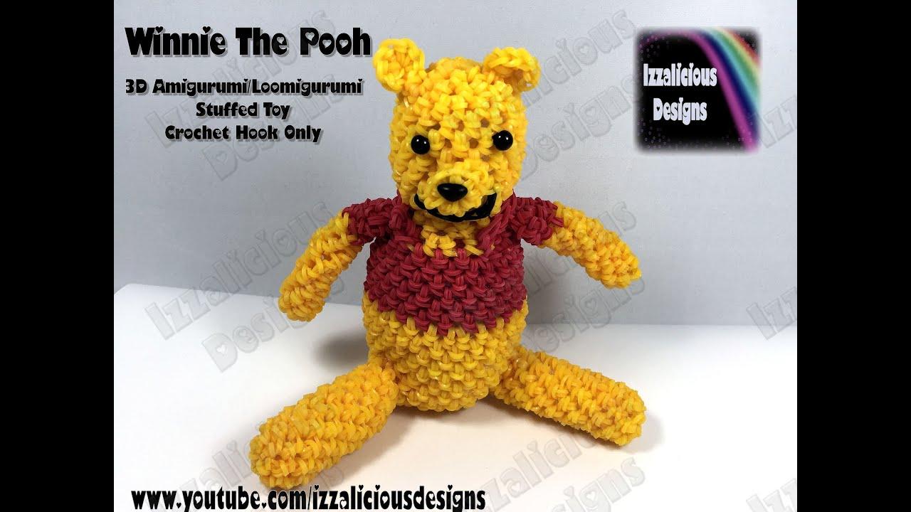 Amigurumi Lalylala : Rainbow Loom 3D Winnie The Pooh Amigurumi/Loomigurumi Bear ...
