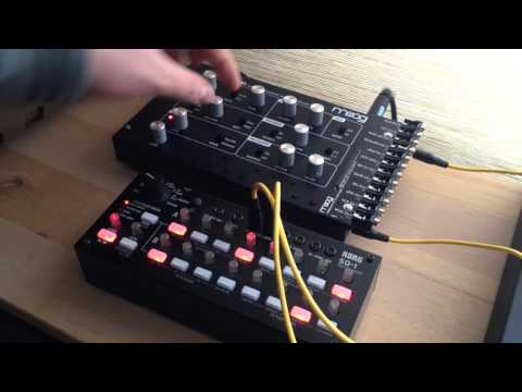 Korg SQ-1 And Moog Werkstatt With Gate-In Mod