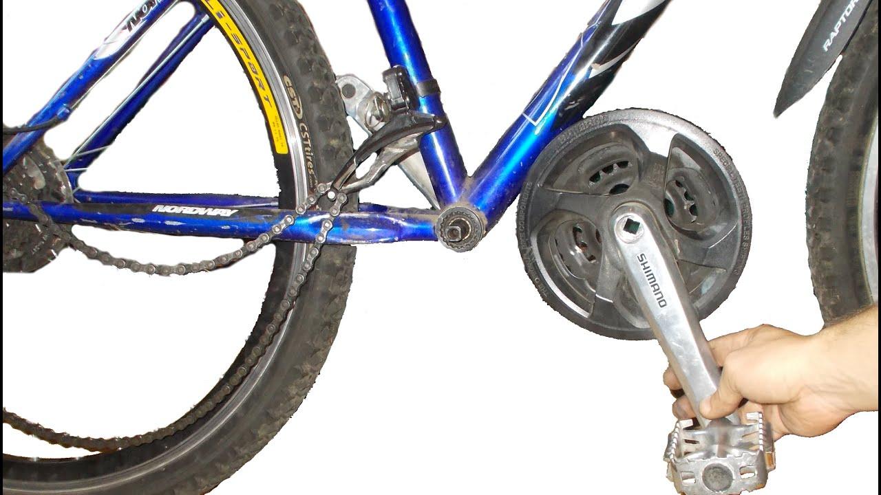 Откручивается шатун с педалью на велосипеде что делать
