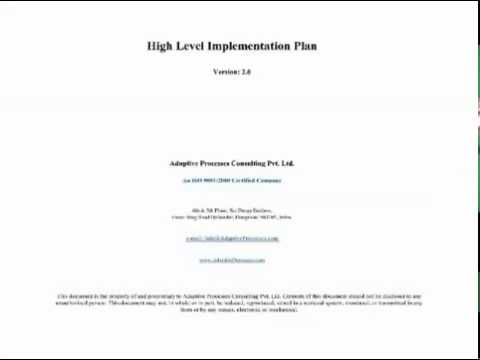 High Level Implementation Plan Template - Youtube