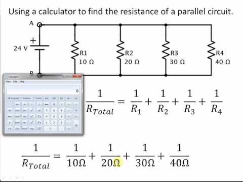 Easy Calculator Method for Finding Total Resistance in a Parallel Circuits