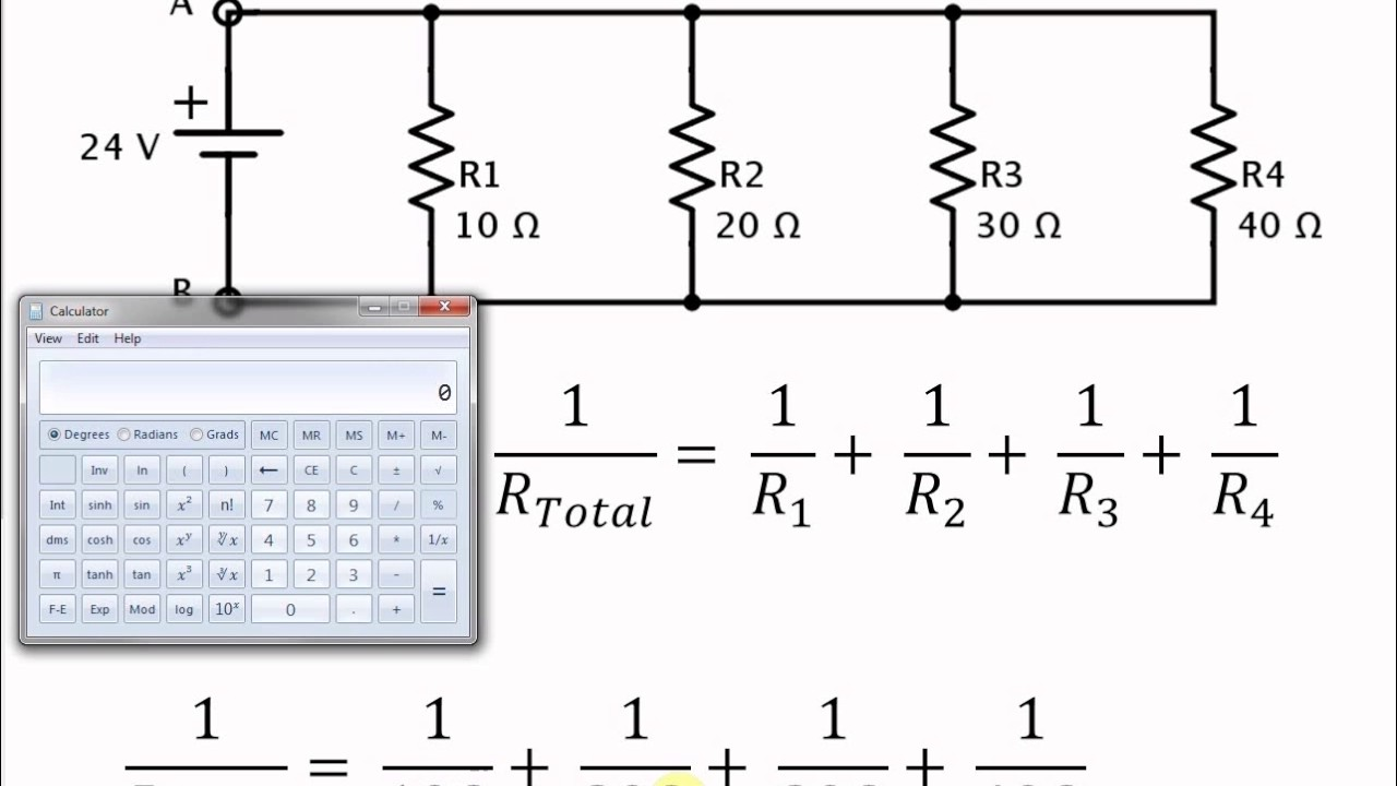 Easy Calculator Method For Finding Total Resistance In A