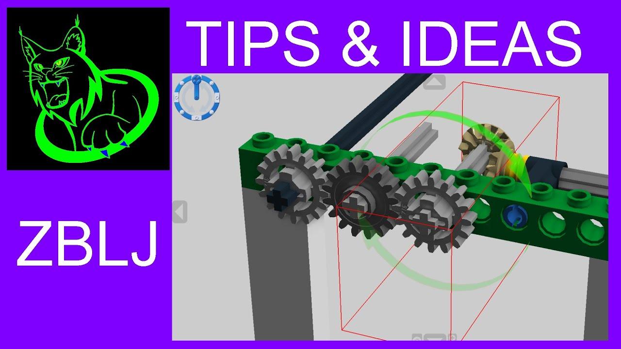 Tips Ideas Working Gears In Lego Digital Designer Youtube