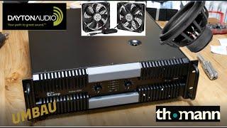 T.amp Proline 3000 Endstufe / AMP / UMBAU leisere Lüfter für Heimkino / Home Cinema / Wohnzimmer