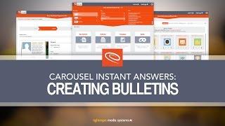 Carousel Training: Creating Bulletins