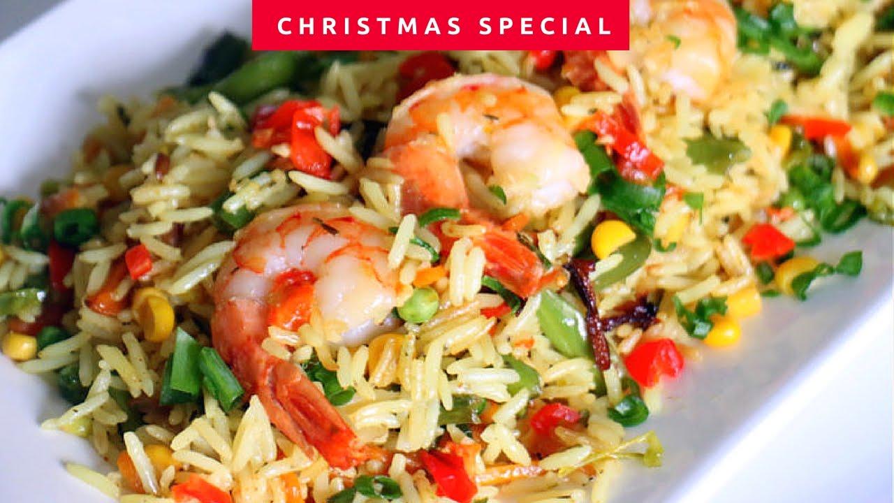 christmas menu coconut vegetable fried rice sauce youtube - Christmas Rice