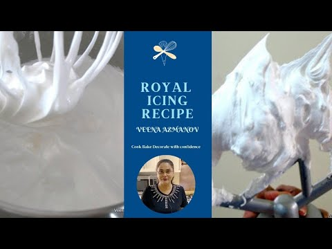 Royal Icing Recipe - Cake Decorating Tutorial (Veena's Art of Cakes)