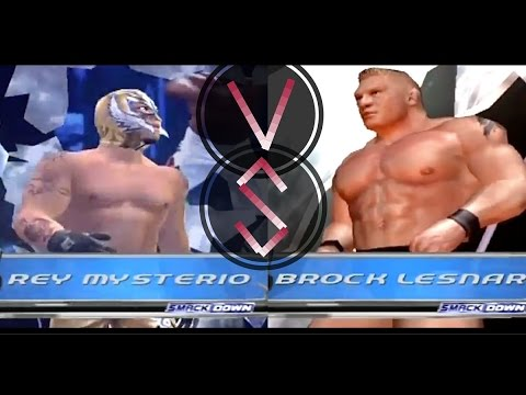 Rey Mysterio vs Brock Lesnar - WWE SmackDown! Here Comes the Pain (SMACKDOWN Difficulty)