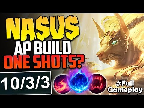 NASUS AP BUILD ONE SHOTS? IS THIS DMG EVEN POSSIBLE? | AP Nasus vs GP TOP Season 8 PBE Gameplay