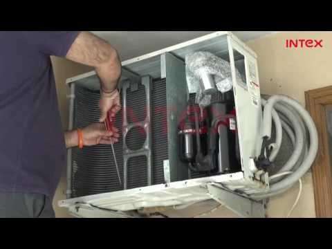 Split AC Outdoor Unit Wet Service Process  Hindi