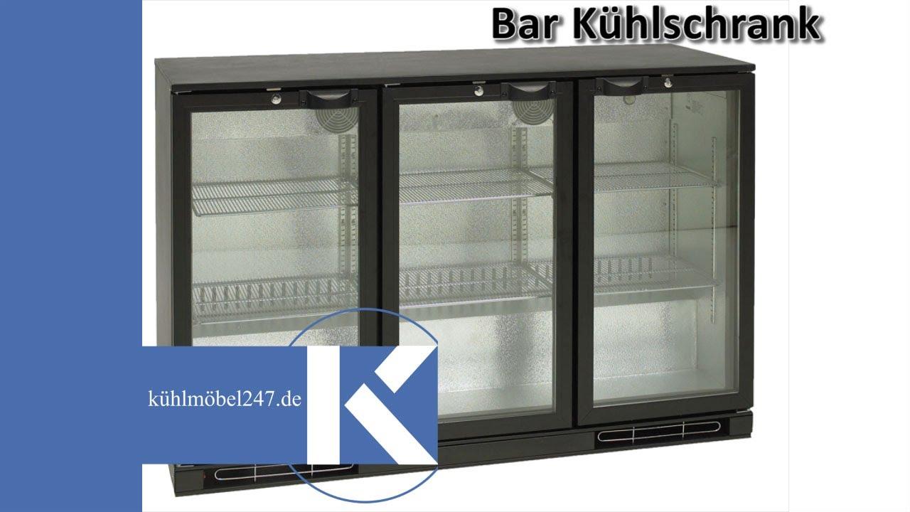 Minibar klein Kühlschrank - www.kuehlmoebel247.de - YouTube