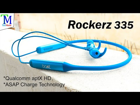 boAt Rockerz 335 Unboxing & Review   Ocean Blue   Qualcomm aptX & cVc   30H Battery Life   Rs. 1999.