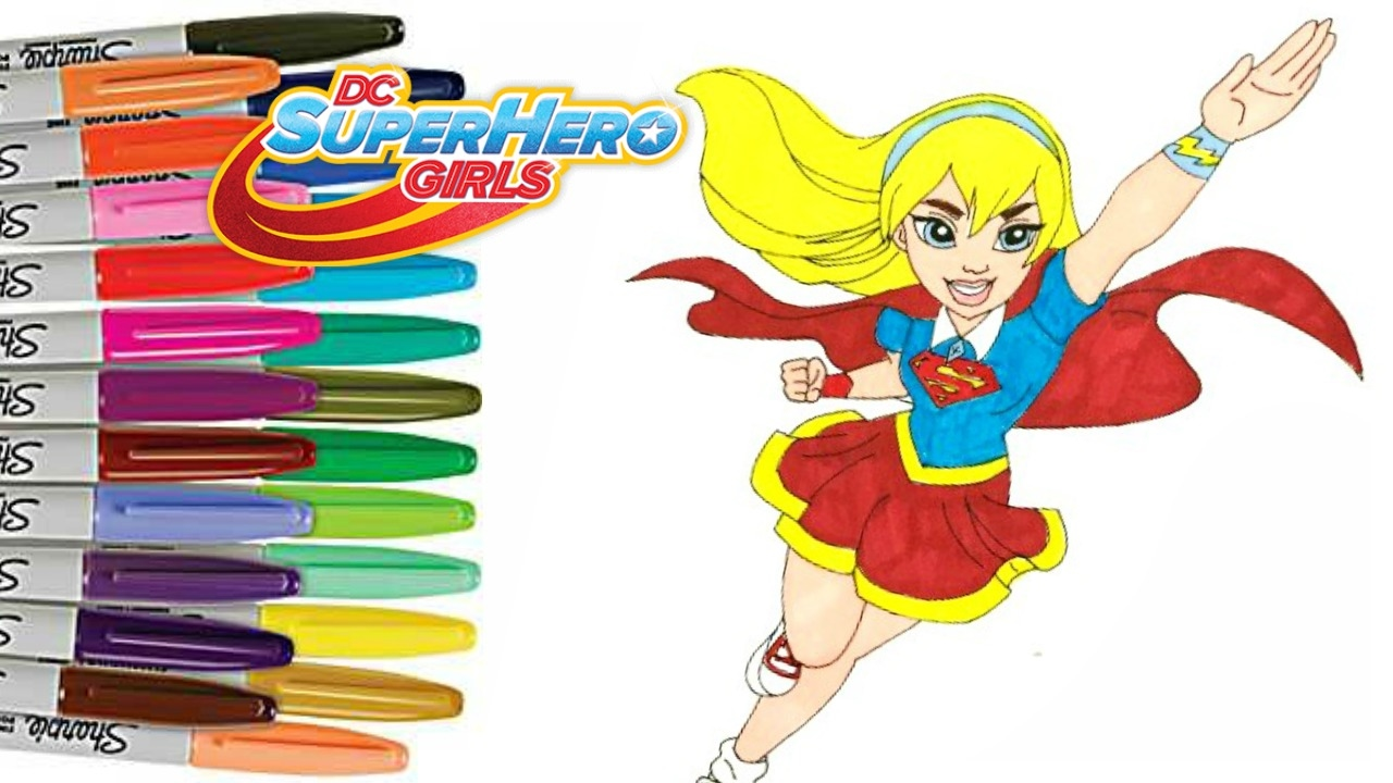 - DC Superhero Girls Coloring Book Page SUPERGIRL How To Color - YouTube