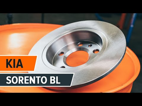 How to replace front brake discs and front brake pads on KIA SORENTO BL TUTORIAL | AUTODOC