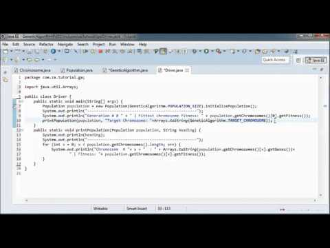 Genetic Algorithms w/ Java - Tutorial 01