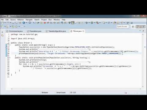Genetic Algorithms w/ Java - Tutorial 01