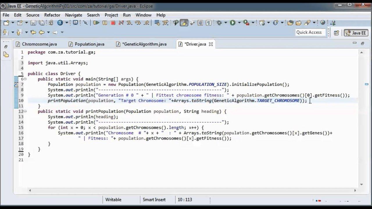 Genetic Algorithms w/ Java - Tutorial 01 - YouTube